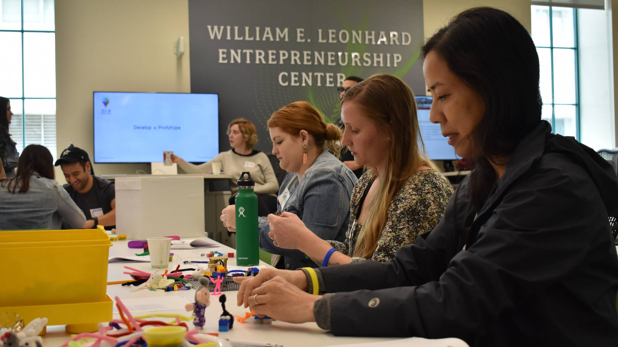 Students participate in an Idea Lab workshop