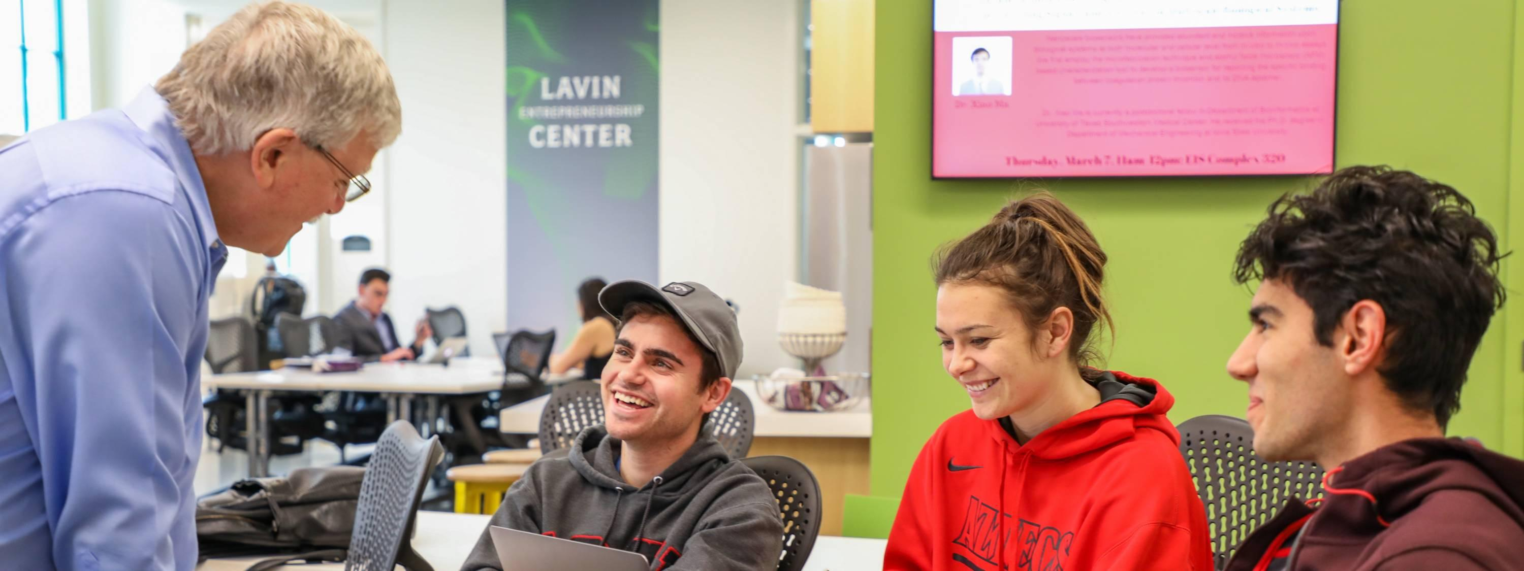 Students at Lavin Center