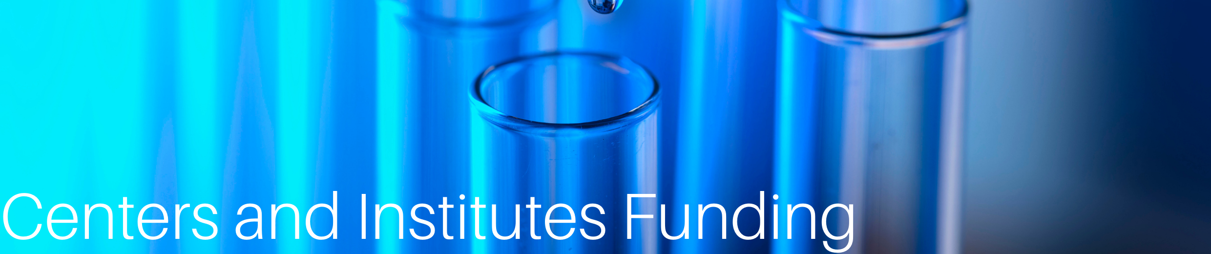 Centers and Institutes Funding